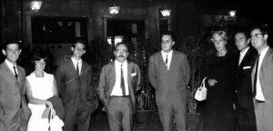 Ramon Parés a la presentació de la primera tesis de microbiologia a la Facultat de Biologia de la Universitat de Barcelona. 1966.