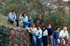 Sortida a la casa pairal de Ramon Parés a Begues. 1983.