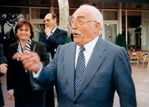 Ramón Parés a Nancy amb motiu del seu nomenament com a Doctor Honoris Causa per la Universitat de Nancy. 1988.