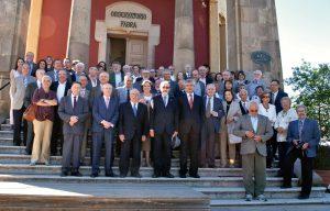 El Dr. Parés i  membres de la Reial Acadèmia de Ciències i Arts de Barcelona en la cloenda del curs 2012-2013 a l´Observatori Fabra.