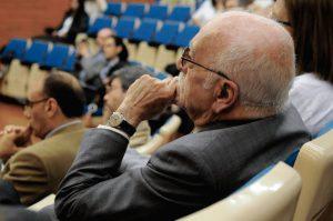 Ramón Parés a la commemoració dels 50 anys de la càtedra de microbiologia a la Universitat de Barcelona. 2014.