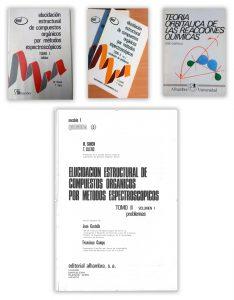 Llibres d'espectroscòpia i de mecanismes de reacció (1965-1980).