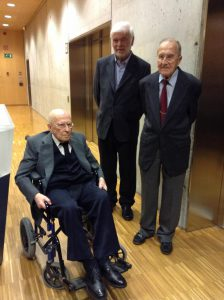 Dia Meteorológico Mundial 2013. El Dr. Puigcerver amb el Dr. Vidal i Llenas, i el Dr. Barrachina.