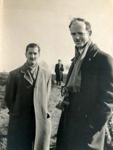 1956 J. Vaquer amb E. Witt a Hamburg. Arxiu: Familia J. Vaquer.- M .Guilemany