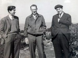 1959 J. Vaquer, B. Eckmann i J.Teixidor a Zuric. Arxiu: Familia J. Vaquer.- M .Guilemany