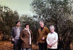 1967 J. Vaquer, M. Guilemany, J. Teixidor i E. Bigas. Arxiu: Familia J. Vaquer.- M .Guilemany