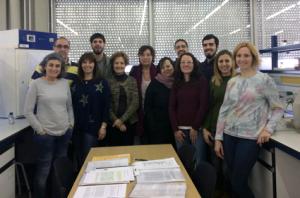 Grup de recerca dirigit per la Dra. Isabel Esteve (2017) Font: Arxiu familiar