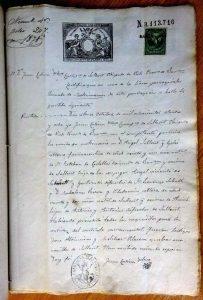Partida de casament d'Àngel Sallent amb Magdalena Riera. Arxiu Municipal de Sallent.