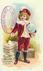 Estampa publicitària amb el segell de la farmàcia d'Àngel Sallent: Arxiu: Rafel Comes.