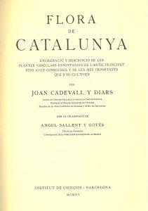Portada del volum primer de la Flora de Catalunya.