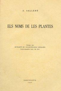 Publicació Els noms de les plantes.